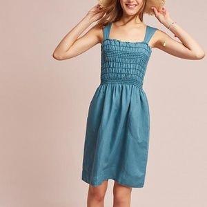 ANTHROPOLOGIE Carlie Smocked Dress